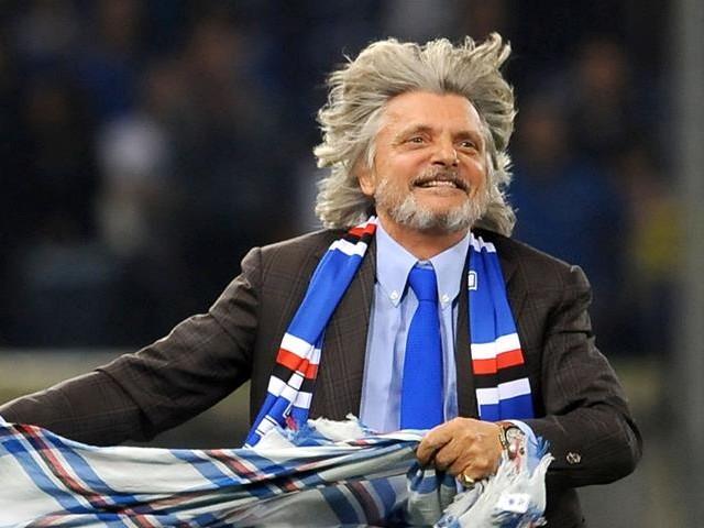 Massimo Ferrero canta l'inno della Roma al concerto di Antonello Venditti