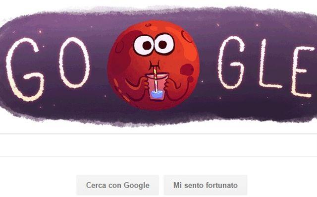 Google festeggia la scoperta di acqua su Marte con un doodle