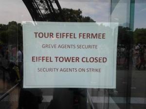 Sciopero ferma la Tour Eiffel