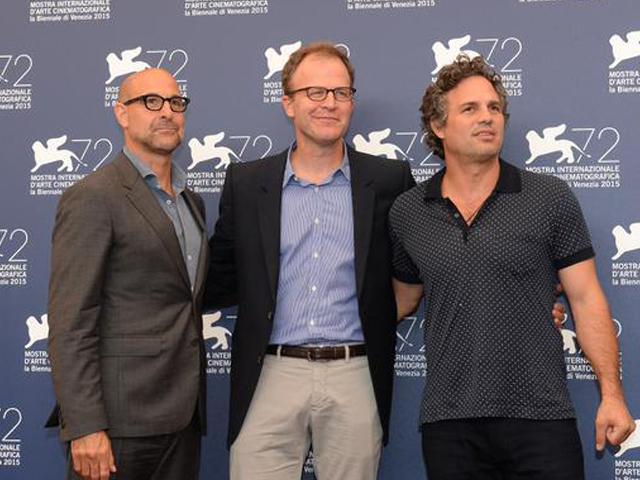 """Festival di Venezia: Mark Ruffalo e Stanley Tucci presentano """"Il caso Spotlight"""""""