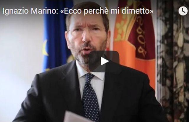 """Roma, Ignazio Marino si dimette ma avverte:"""" ho 20 giorni per ripensarci – VIDEO"""
