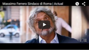 Massimo Ferrero sindaco di Roma