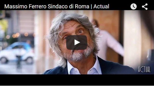 Massimo Ferrero candidato sindaco di Roma, ma è solo una parodia – VIDEO