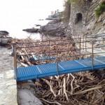 Nervi – Montagna di legname tra gli scogli della passeggiata Anita Garibaldi