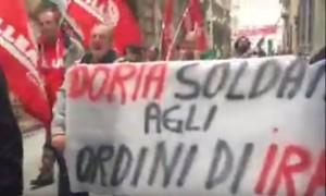 corteo lavoratori Iren a Genova