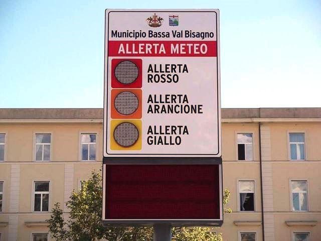 Allerta Meteo in Liguria sino alle ore 10