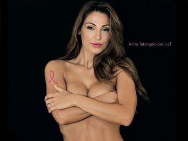 Gossip – Anna Tatangelo nuda per la campagna contro il tumore al seno, su Facebook è subito polemica