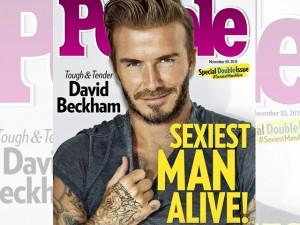 David Beckham sulla copertina di People