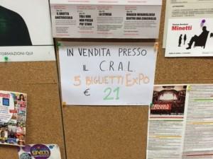 Biglietti di Expò 2015 in saldo alla Regione Liguria