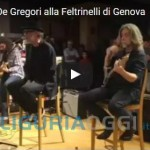 Francesco De Gregori alla Feltrinelli di Genova, bagno di folla – VIDEO