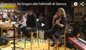 Francesco De Gregori canta alla Feltrinelli