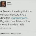 Orfini su Marino e chi chiedeva dimissioni: stessa linea della Mafia