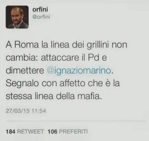 Orfini attaccava il M5S su dimissioni Marino