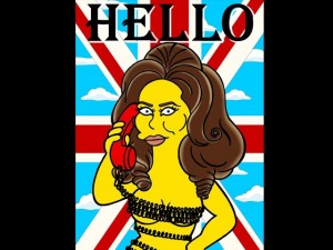 Adele in versione Simpson