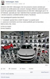 Volkswagen regala auto ma è una Bufala