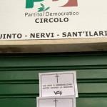 Intimidazioni al circolo PD di Nervi – Quinto e Sant'Ilario