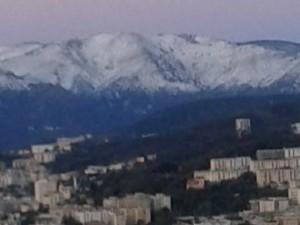 neve sulle cime della Liguria
