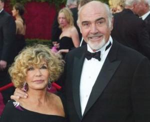 Sean Connery e la moglie Micheline Roquebrune