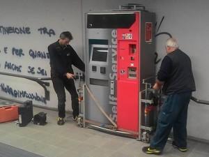 La nuova cassa automatica alla stazione