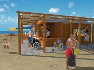 Progetto per spiaggia per disabili a Chiavari
