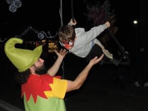 Loano, un'immagine del circo natalizio