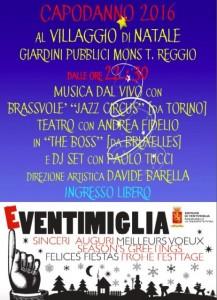 Nella foto, la locandina del Capodanno di Ventimiglia