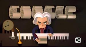 Il doodle di Google dedicato a Beethoven