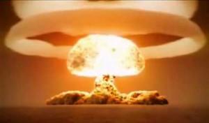 Nella foto, un'esplosione nucleare