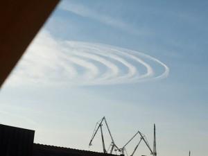 cerchi nel cielo (foto Facebook)