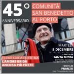 Genova, la comunità di San Benedetto al Porto compie 45 anni, l'8 dicembre i festeggiamenti
