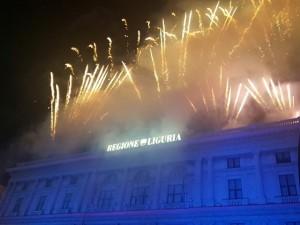 Fuochi d'artificio in piazza De Ferrari