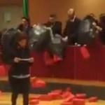 Mattoni finti del Movimento 5 Stelle contro il Piano Casa in Regione Liguria