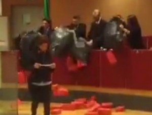 Protesta del Movimento 5 Stelle in Regione