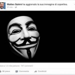 Anonymous attacca la pagina Facebook di Salvini
