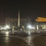 San Pietro al buio per alcune ore: prove tecniche