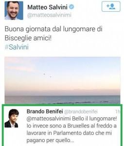 Brando Benifei vs Matteo Salvini su Twitter