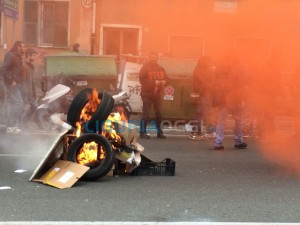 Manifestazione Ilva a Cornigliano