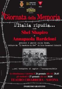 """Savona, tutte le iniziative per la """"Giornata della Memoria"""""""