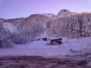 Santo Stefano D'Aveto, prime abbondanti nevicate