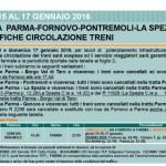 """La Spezia, 16 e 17 gennaio modifiche alla viabilità ferroviaria sulla linea """"La Spezia-Parma"""""""