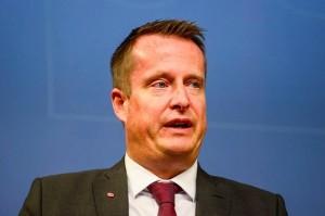 Nella foto, il ministro degli Interni svedese Anders Ygeman