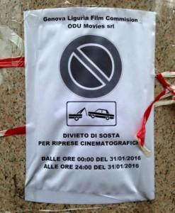 """riprese """"lampo"""" a Genova"""