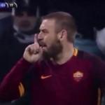 """""""Stai muto zingaro di m."""" bufera su De Rossi dopo Juventus-Roma"""