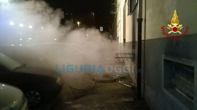 Incendio viale Amendola La Spezia
