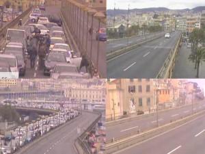 La situazione del traffico in Sopraelevata