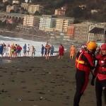 Cimento invernale a Genova Voltri