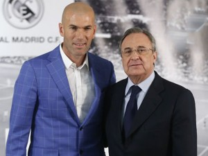 Zidane e Florentino Perez