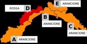 Allerta meteo arancione per pioggia su tutta la Liguria. Allerta rossa per neve in Valbormida e valle Stura