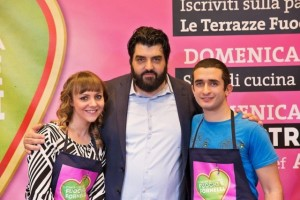 Nella foto, chef Cannavacciuolo con i primi due classificati