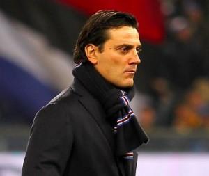 Nella foto, l'allenatore della Sampdoria Vincenzo Montella